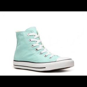 Teal high top Converse 7